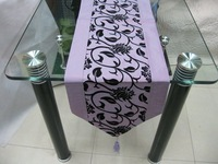 2012 new style table runner 200cm x 33cm table cloth home garden home textile free shipping light purple