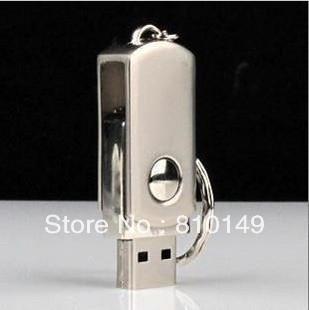 Metal swivel USB FLASH DRIVE  usb flash disk usb flash memory 4GB 8GB 16GB  32GB 64GB  Free shipping +key chain