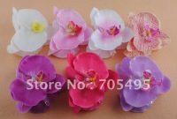 Free Shipping 4'' Silk Orchid Wedding Hair Flower with Claws 7 colors mixed