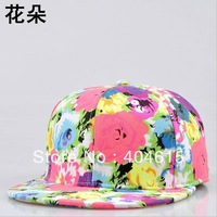 Wholesale High Quality adult fashion hiphop flat Floral blank snapback hats