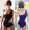 2013 hot fashion One-Shoulder Cut Out Padded Swimsuit Swimwear sexy Bathing suit swimming wear Monokini bikini