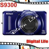 COOLPIX S9300 Original Nikon COOLPIX S9300 18x Optical Zoom,4x Digital Zoom,16MP Sensor Resolution Digital Camare Free Shipping