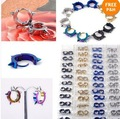 30Pairs New Arrive Fashion Cool Unisex Stainless Steel Rivet Hoop Earring 5 Colour U Choose