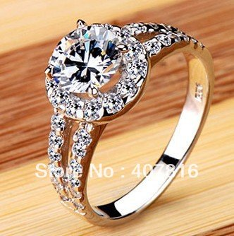 Free shipping Europe and  United States jewelry eight heart eight arrow  diamnd ring rings wedding ring with a certificate