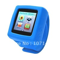 New Arrivel Wrist Watch MP4 Players 4GB MP3 Music Player LCD Lyrics Display MP4 Player Stero FM E-Book Colors Free Shipping
