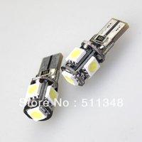 free shipping hot selling 10pcs T10 W5W 194 5050 SMD 5 LED Car Canbus LED Lamp White Light Bulbs