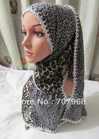 Tc231 leopard print cotton spell lace long towel 190 * 45