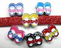 100pcs 8mm slipper  Slide Charms  Fit Pet Collars Wristbands Belts