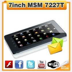 7inch MSM 7227 Built-in 3G GPS tablet Bluetooth tablet with Phone call function dual camera tablet pc andriod mid 512MB/4GB(China (Mainland))