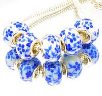 Min.order is $10( mix order ) T22 FREE SHIPPING 5pcs Ceramics European Beads Fits Charm Bracelet