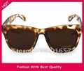 Wholesale and Retail new fashion summer wome&#39;s sunglass star design black and leopard design 12pcs/lot