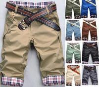 Free Shipping Mens slim Leisure Short Pants,Men Casual Pants capris,shorts men,10color,Size:M-XXL,100%guarantee,drop shippingWP1