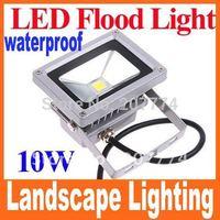 10W 85-265V 10W Warm White Landscape Lighting Outdoor Waterproof LED Flood Light Floodlight LED street Lamp Free Shipping