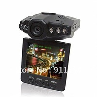 Car camera DVR, 270 degree, 2.4 Inch TFT LCD night vision, motion detect recording, free shipping Russian language ok F198