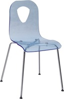 4 Pieces/lot  Acrylic seat and chromed steel leg  dining side chair