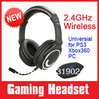 Brand New 2.4G wireless gaming headset rubber coated for PS3 XBOX 360 PC, game consoles, removeable mic one year warranty