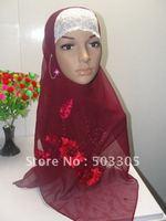 MS12030833 free shipping hot drill silk long scarf with different diamonds,muslim scarf,islamic scarf,muslim hijab,islamic hijab