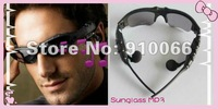 Free shipping  New Black 2GB Headset Sunglass Mp3 Player enjoy music in the sun protect your eyes
