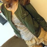 SALE Fashion High waist Skinny women's o-neck jacket outerwear long-sleeve outerwear short jacket coat Free Shipping