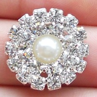 Pearl&Rhinestone Cluster for Wedding Invitation, Rhinestone Embellishment -------BU188