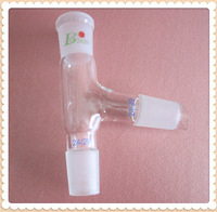 Three way adapter,24/29,75 bend,distillation head,GG17,borosilicate glass,Free Shipping