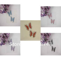 Free shipping Wholesale 1mm 2mm mix color rhinestone sticker(5pcs/Lot) 022003015