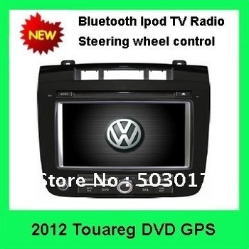 NEW !!! Hot Sale  2012 VW Touareg Car GPS Navigation DVD Head Unit with Sat Nav Radio TV Bluetooth Stereo System