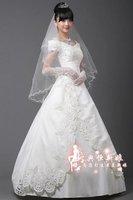 cheap stock white lvory wedding dress free Size 2 4 6 8 10 12 14 16 18 free P&P