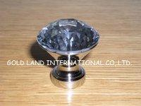 D30mm 50pcs/lot Free shipping K9 crystal glass diamond cabinet cupboard door knob/furniture konb
