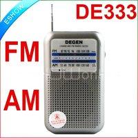 New DEGEN DE333 FM AM Radio Receiver Mini Handle Portable Two Bands A0796A eshow