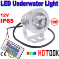 Dropship RGB 12V 10W LED Flood light floodlight Underwater Light with Reflection cup Warranty 2 years CE -- free shipping