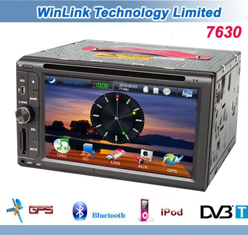 2012 New 2 Din in Dash 6.2&quot; Touch Screen Special Car GPS DVD Player Bluetooth RDS Stereo Radio (Digital TV Optional)(China (Mainland))