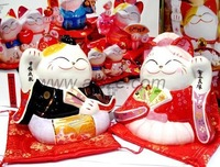 Japanese Culture Sweety ceramic  Maneki Neko couples(Lucky cat),wedding gift&decoration, love mascot,innovation decor,craft gift