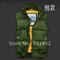 Free shipping  Mixed order Pretty 1pcs/lot Green colour Men's Outerwear Down Coat Jacket vest/waistcoat/men's Weskit~M1