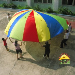23' (7M) Rainbow Kids play swing parachute for games free shipping mix order(China (Mainland))