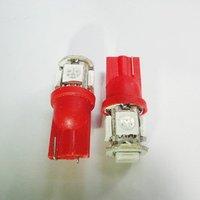 Wholesale Freeship Red T10 SMD5050 5 LED Car Light Interior Lamp Automobile Bulbs Car Wedge Indicator Light