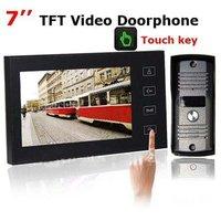 7 Inch TFT Touch Screen Color Video Door Phone  Cmos Night Version Camera Intercom system 11 Door Bell Rings