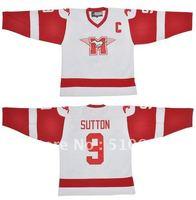 Wholesale Jerseys  #9 SUTTON YOUNGBLOOD Movie Hamilton MUSTANGS Ice  Hockey Jersey Mix order
