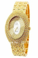 Authentic Smays Women's Fashion Quartz Watch, Luxury Oval Crystal Stainless Steel Gold Silver, A310