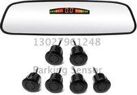 Guaranteed 100% Reverse Sensor Parking Radar New  LED Display Mirror Car Parking Sensor System with 6 Sensors +2012 Best Selling