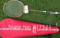 lining badminton racket N80 100% carbon fibre free shipping accept Credit card 2 pieces/lot