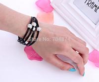 Free Shipping  Hot sell 30pcs/lot so nice women manual bracelets  Shambhala  leather bracelets