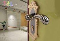 (2 pcs/lot) Zinc Alloy Lever Handle door lock Free Shipping Safe,High-end,Luxurious