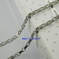 Fashion Necklace Jewelry 316L Stainless Steel Silver Square Box Chain Necklace Fashion 316L Stainless Steel Jewelry XL091