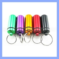 Keychain Pill Box Container