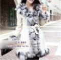 BG5838 Vintage Trend Real Pig Leather Coat With Fox Fur Collar Winter Woman Warm Clothing S,M,L,XL OEM Wholesale Retail
