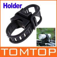 10pcs/lot Black Cycling Bike Bicycle Front light Clip Rotational Flashlight Holder Torch Bracket H8210 Freeshipping Dropshipping