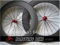 Fast shipping!!! 88mm deep carbon fiber wheels with Shima/Sram/Campy cassette body