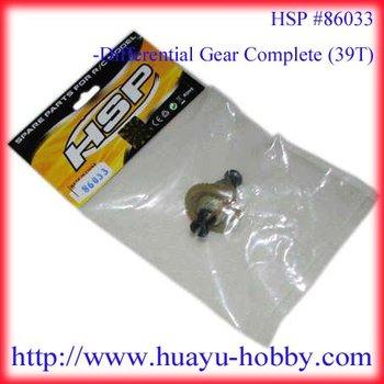 86033 Differential gear complete (39T)  HSP 1/16th EC Car Parts 94182/94183/94186/94187
