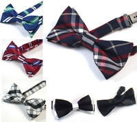 Children Baby Boys Hot Pink Plaid Imitation Silk Formal Tuxedo Bowtie Bow Tie With Wedding Necktie Free Shipping  50 pcs